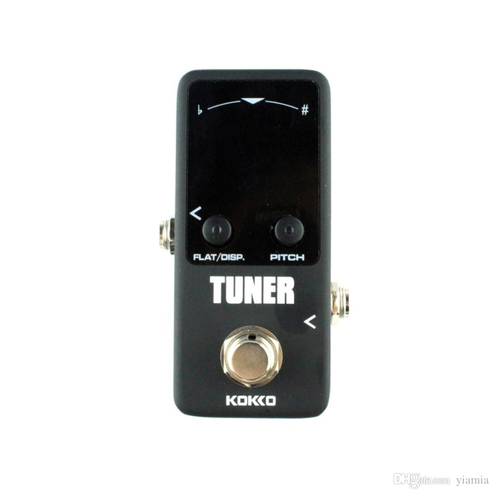 Mini Pedal Tuner Guitarra Guitar Bass Violin Ukelele Stringed Instruments Tuner Effect Device Dual Display New Hot