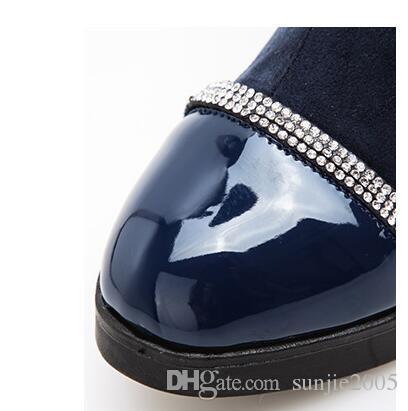 New hot water-proof winter warm children boots inner fleece boys and girls boots magic sticker children shoes