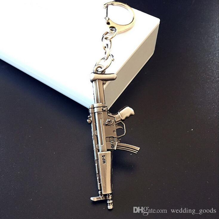Hot sale Through the fire line CF weapons gun mold alloy key ring 6cm pendant hot KR078 Keychains a