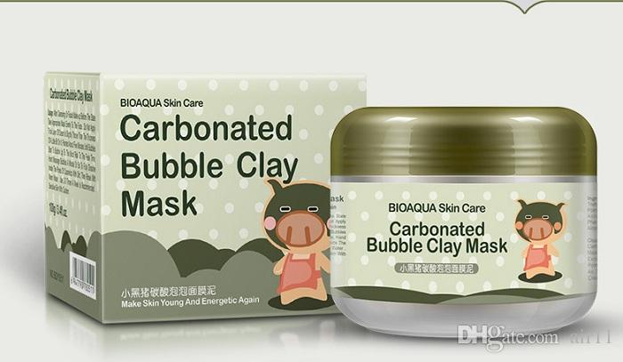 BIOAQUA pig carbonated bubble clay Mask 100g remove black head acne Shrink pores face care facial sleep mask Free shopping 50pcs