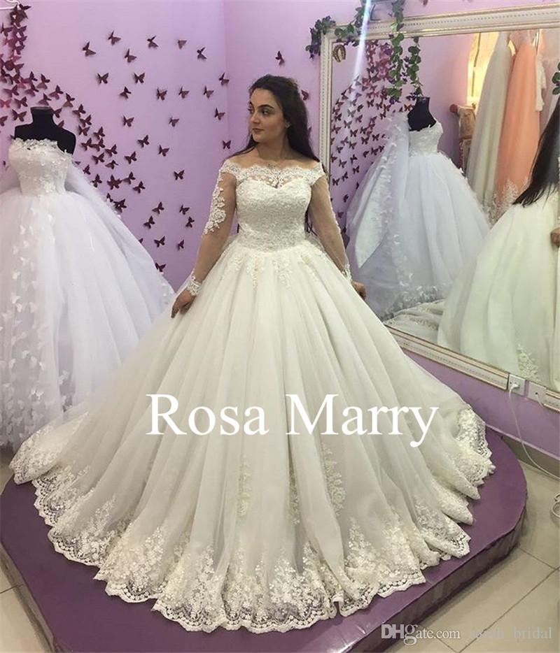 Victoria Off Shoulder Ball Gown Wedding Dresses 2018 Vintage Lace ...