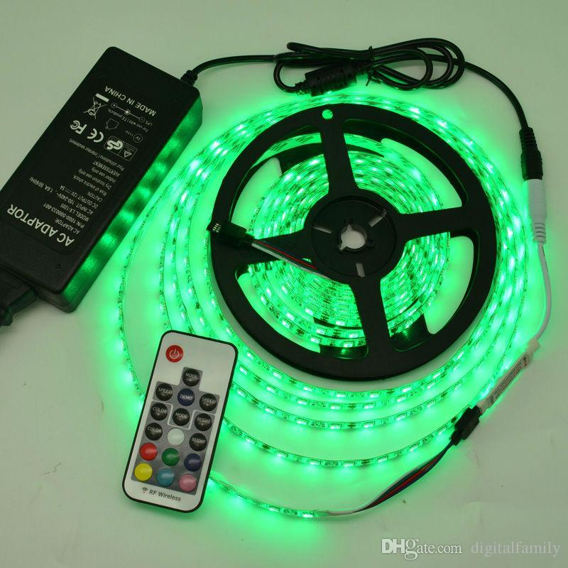 DC12-24V 17 Tecla Mini RF Wireless LED RGB Controlador remoto con 4pin Female para controlar la tira LED SMD 5050 Iluminación y módulo
