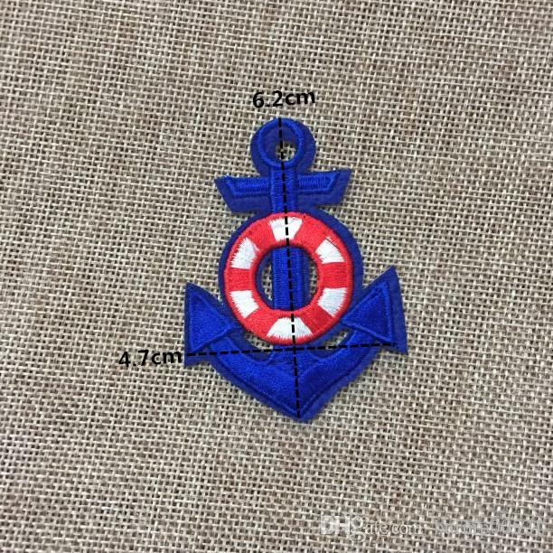 4.7cm*6.2cm New fashion Ship LOOG cartoon Badge Iron on Patches of Stickers, Woven Label Patch Wholesale, DIY Cloth Accessories