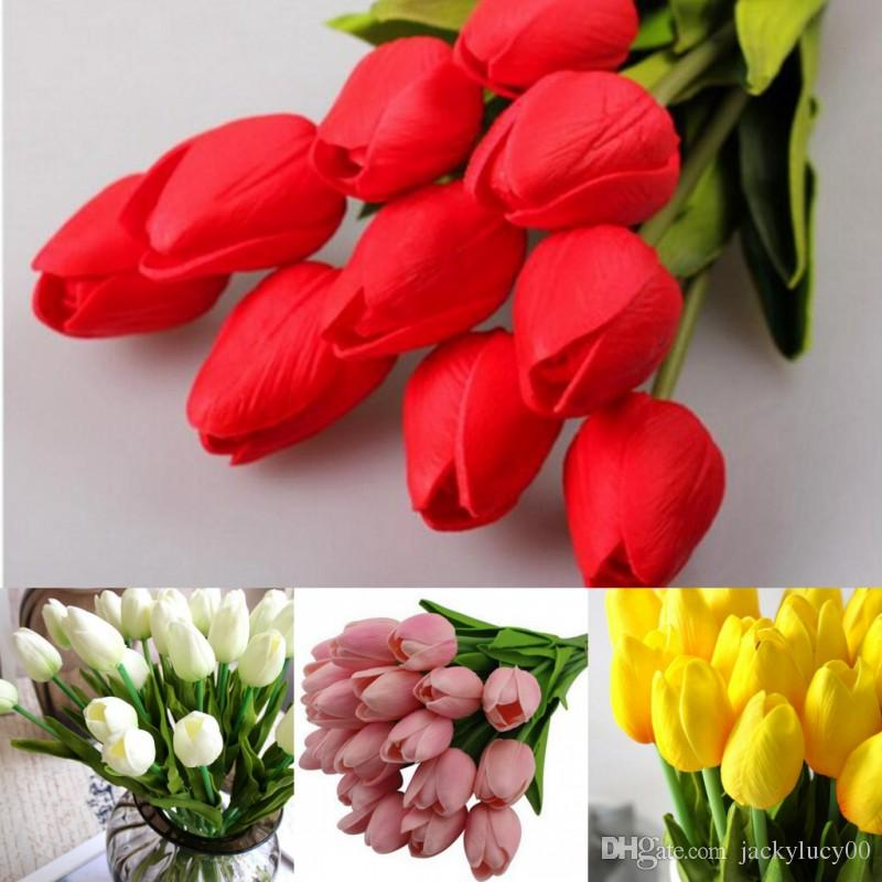 PU Mini Tulip Artificial Flower Real Touch Wedding Flower Ornament For Home  Living Party Decoration UK 2019 From Jackylucy00 429c9f79c6