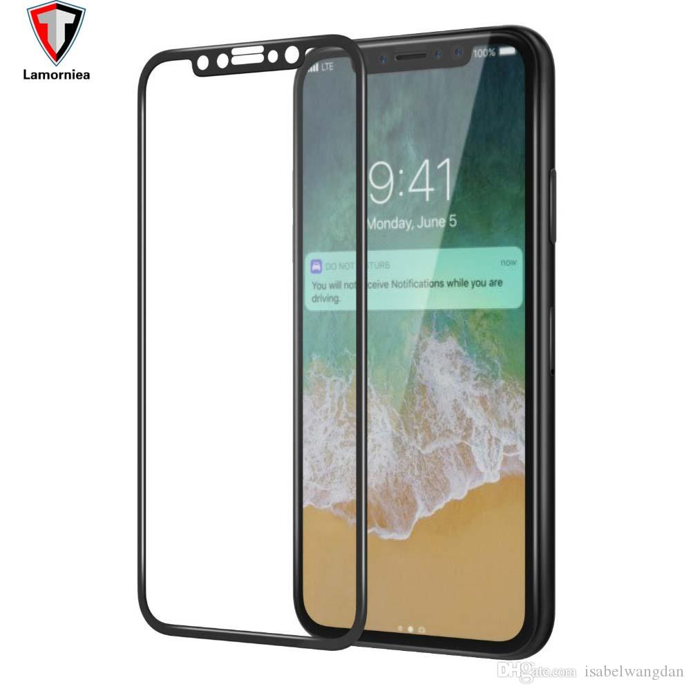 sports shoes ce95a 00038 For iPhone 8 Plus iPhone X 3D Full Cover Color Tempered Glass Hard Edge  Screen Protector for iPhone8 X 7 8 Plus