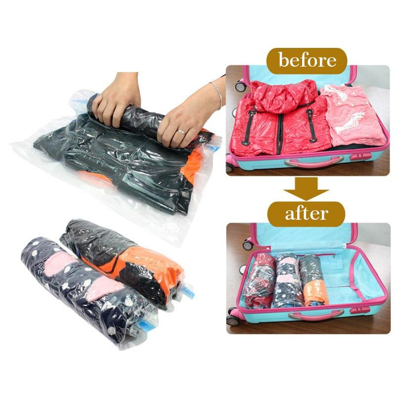 2018 Wholesale Travel Vacuum Storage Bag For Clothing Seal Pouch Hand Rolling Vacuum Compressed Bag Space Saver Organizer 272 From Hobarte $31.74 | Dhgate.  sc 1 st  DHgate.com & 2018 Wholesale Travel Vacuum Storage Bag For Clothing Seal Pouch ...