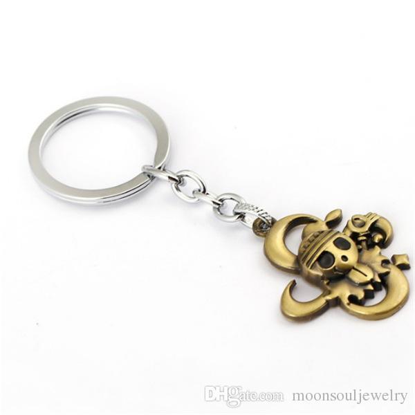 MS Jewelry Anime ONE PIECE Keychain Car Charm Key Chain Luffy Zoro Sanji Nami Key Ring Holder Chaveiro Pendant