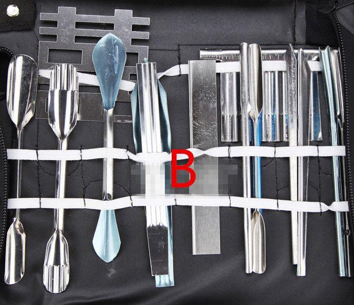 NUOVO 46 PZ / SET Verdura Frutta Intaglio Scalpello Strumento Chef Kit set di coltelli da intaglio Coltelli da intaglio contorni spedizione gratuita