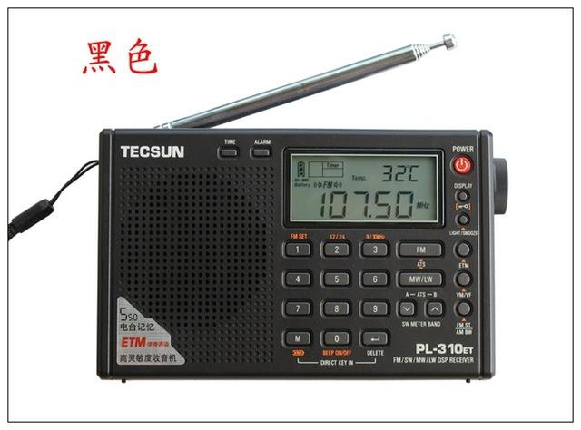 Wholesale-Tecsun PL310ET Full Band Radio Digital Demodulator FM SW/MW/LW DSP Stereo Radio Receiver upgraded version PL-310