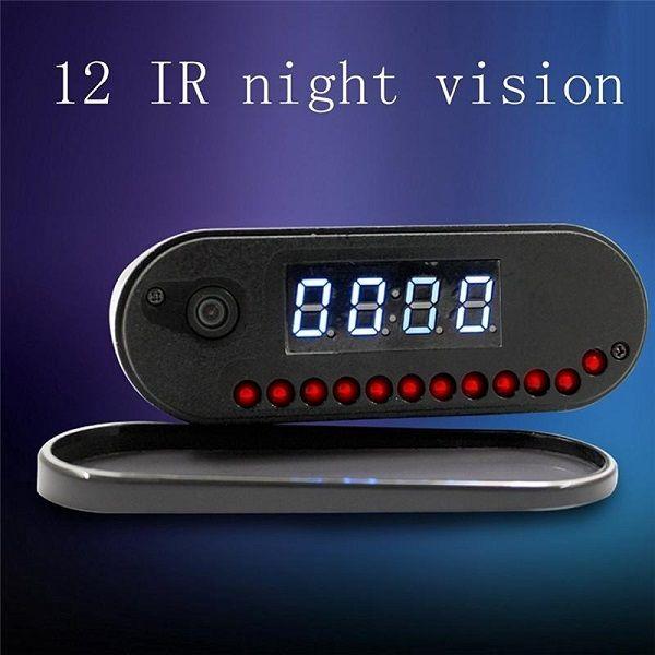1080P للرؤية الليلية على مدار الساعة كاميرا P2P WIFI مصغرة كاميرا IP المنبه كاميرا في الوقت الحقيقي عرض فيديو مسجل ساعة الطفل مراقب 160 زاوية واسعة