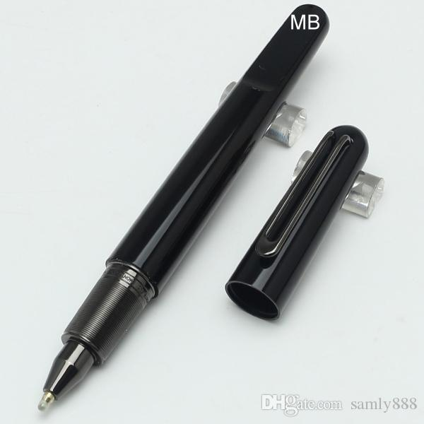 Limited edition mb black resin Magnetic cap rollerball pen carving Luxury school office stationery writing smooth bran