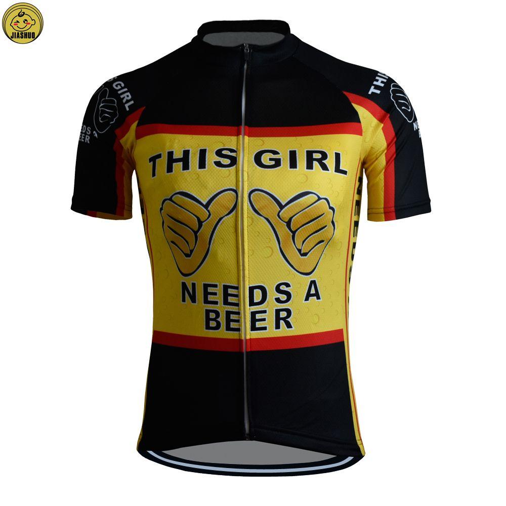 Women Customized NEW 2017 JIASHUO Girl Beer Bike Mtb Road RACE Team Funny  Pro Cycling Jersey   Shirts   Tops Clothing Breathing Air Bib Shorts Cycling  ... 2b59eae6a
