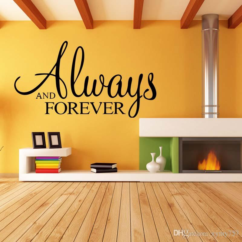 For Always And Forever Vinyl Removable Decal Personality Art Mural Home Bedroom Decor Wall Stickers Diy