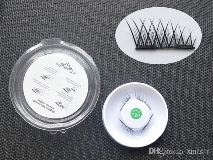 Top Quality 3D Magnetic False Eyelashes Extension Magnetic Eyelashes Makeup Soft Hair Magnetic Fake Eyelashes with retail packaging 100 lots