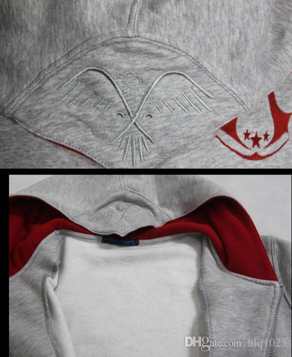 2017 Spring Assassin Creed Hoodies Men Top Jacket Coat Assassins Creed Cosplay Coold Slim Male Zipper Sweatshirt