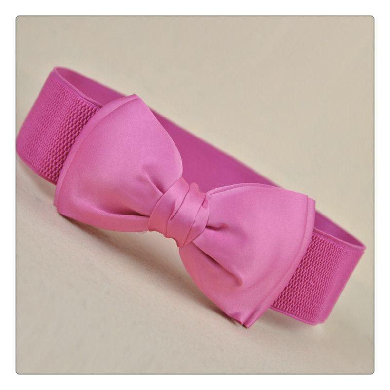 Wholesale 2017 Fashion Belts Women Elastic Waist Belts Wide Stretch Waist Elastic Cummerbund Belt For Women Accessories