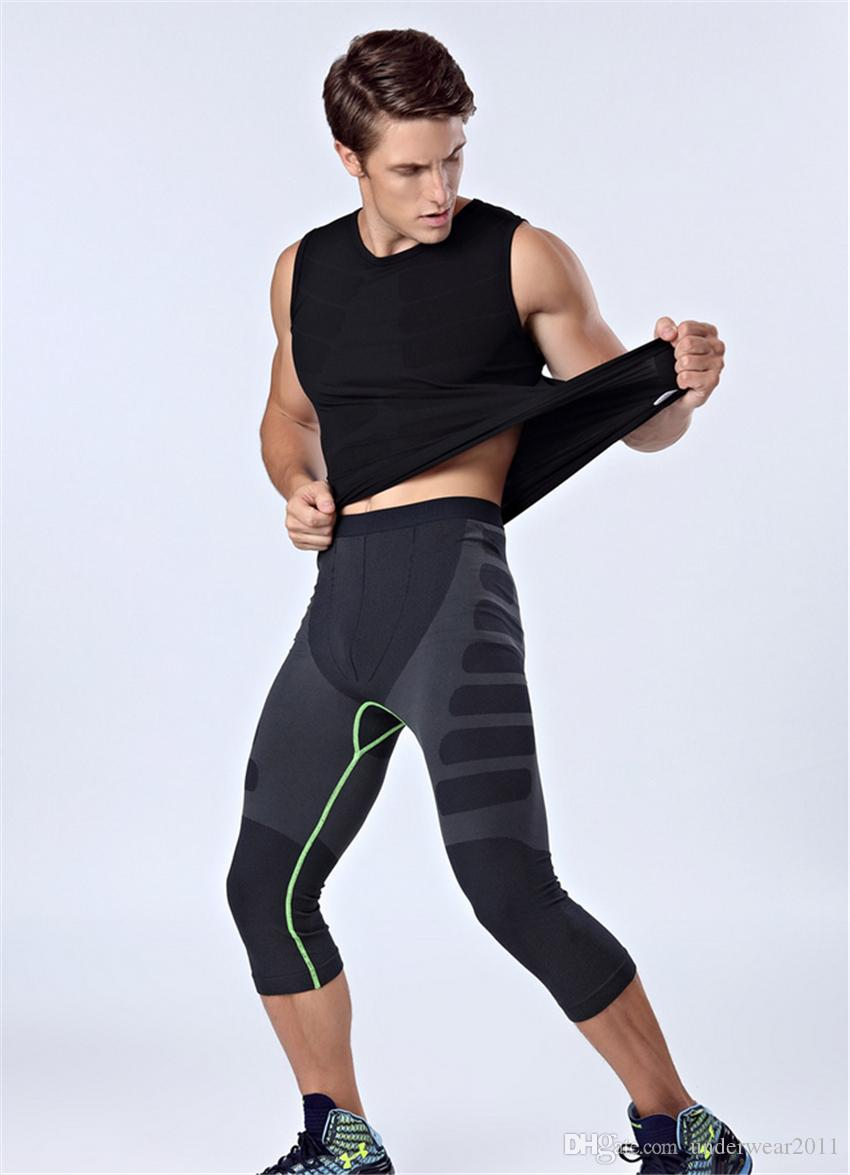 9266c77ec5 MA08 Wholesale Mans Shaper Half Pants Slimming Leg Shapers Jog Pants ...