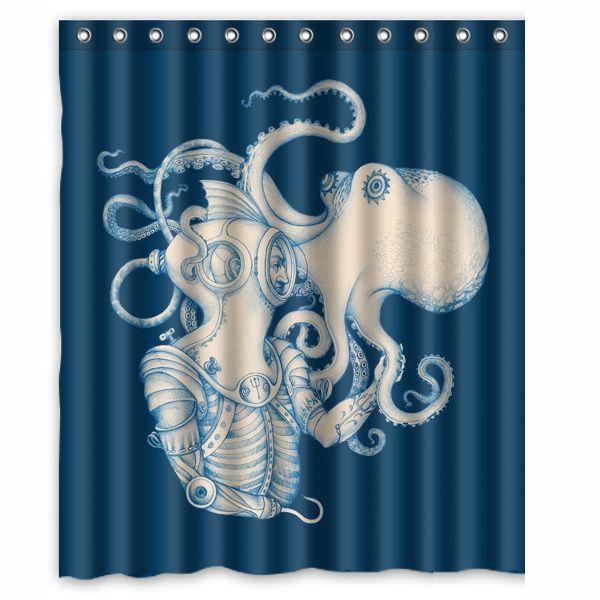 2018 Octopus Sea Life Custom Shower Curtain Bathroom Decor Fashion Design  150x180 Cm From Littleman913, $40.2 | Dhgate.Com