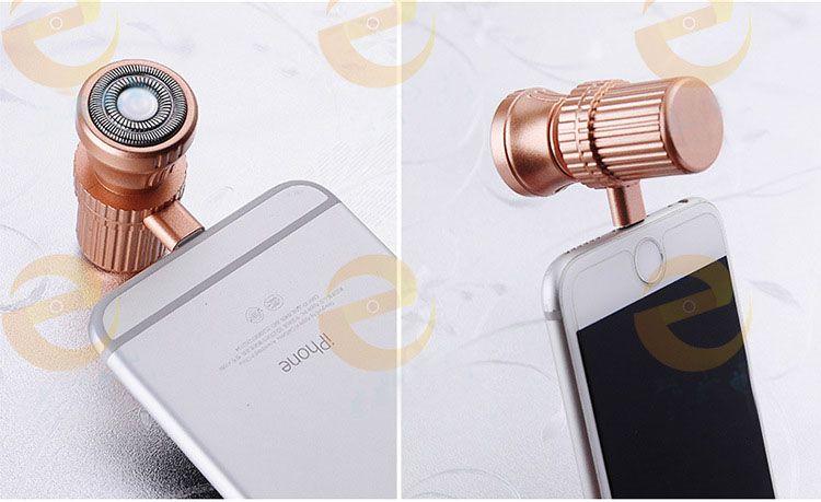 Ultra Light Mini Portable Electric Rotary Shavers for Men Women Android Iphone Mini Razors Micro USB Powered Shaving