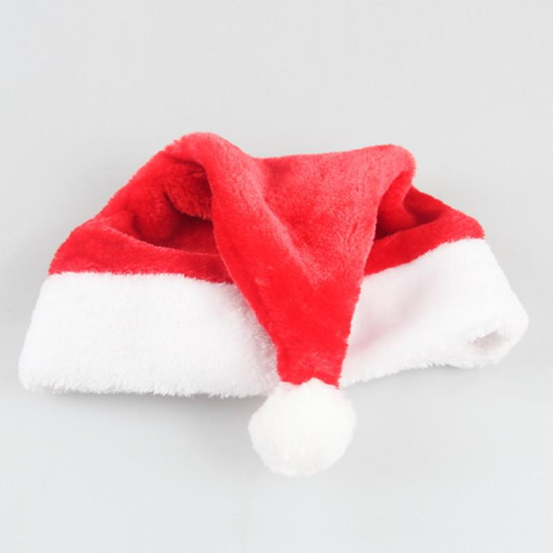 dc6d21da12a9f Santa Hats Christmas Cap Costume Decorative Party Cosplay For Children Kids  Adults Plush Claus Merry Christmas Decor Hat Gifts Decoration Christmas  Door ...