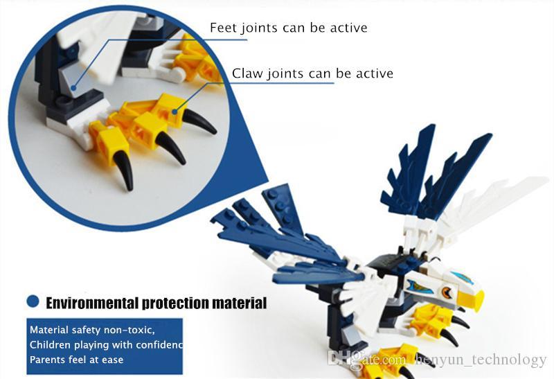 Blocs Jouets éducatifs Briques de construction Eagle Animal Toys pour enfants Cadeaux d'anniversaire de Noël enfants