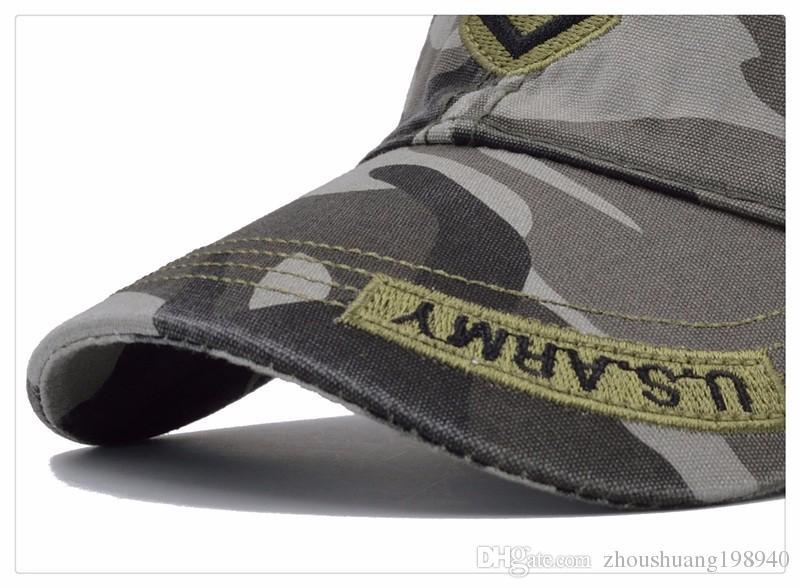 New High Quality US Army Cap Camo Mens Baseball Cap Brand Tactical Cap Mens Hats and Caps Gorra Militar for Adult