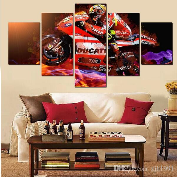 canvas art New Race Car Driver Canvas Painting Home Decoration for home Living Room Print HD Canvas Painting