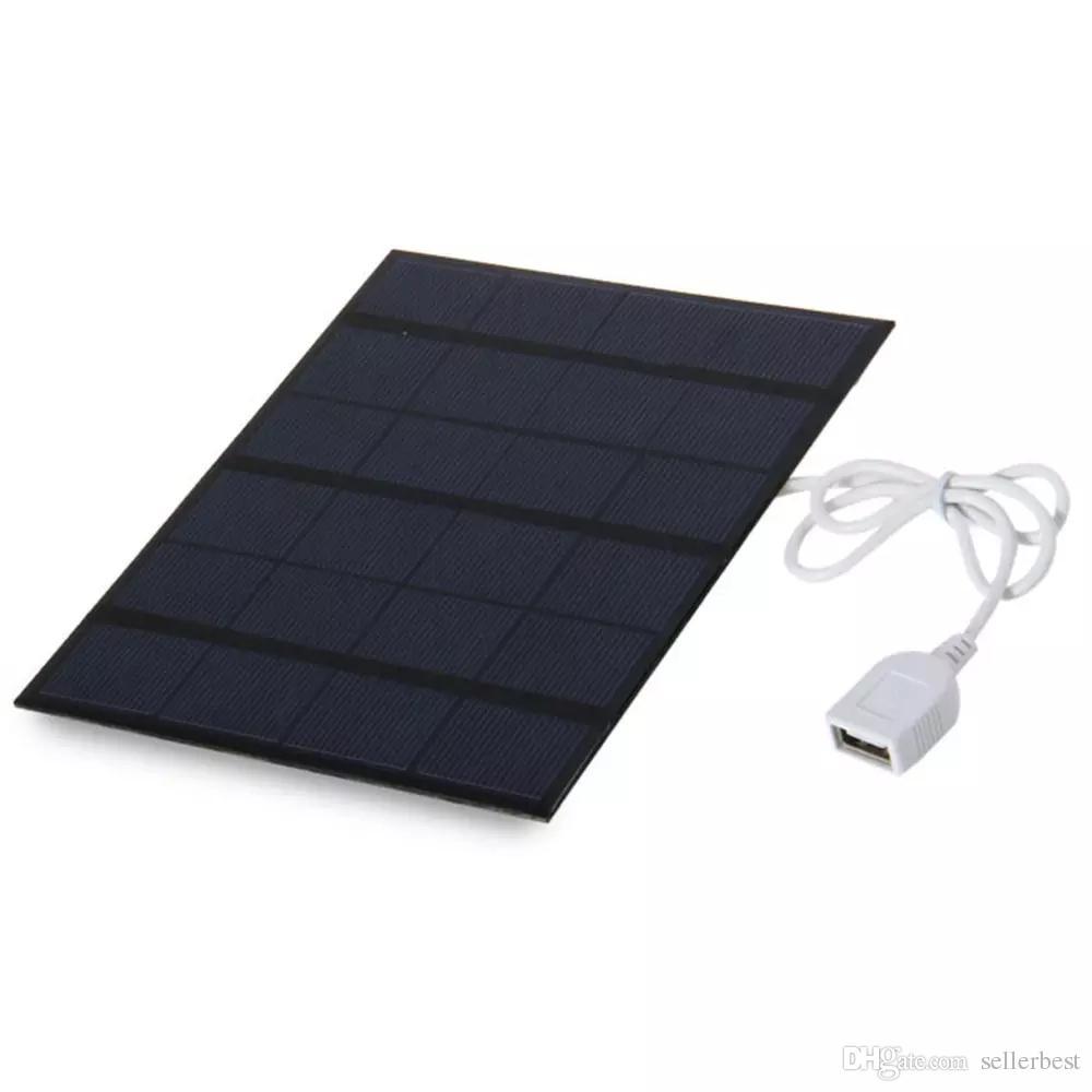 Универсальный 6V 3.5 Вт солнечной энергии зарядное устройство USB OTG портативное Солнечное зарядное устройство мобильного солнечной панели источник питания банка для телефона открытый