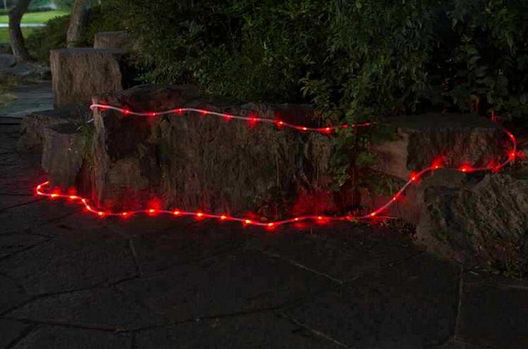 Solar powered led tube string lights lanscape holiday wedding Xmas party garden decoration lamp Waterproof warm white blue