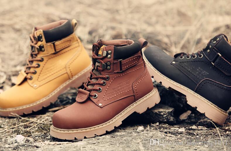 1a15a9af2987 VisMix UNISEX Genuine Leather Autumn Winter Cotton Snow Boots Casual ...