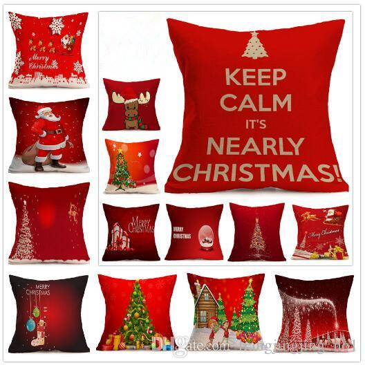 Christmas Pillow Covers 24x24: 48 Designs Christmas Pillow Case Xmas Pillow Cover Reindeer Elk    ,
