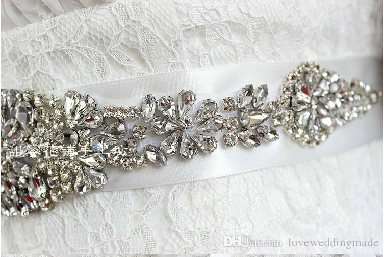 2019 telai da sposa di alta qualità donne graziose accessori moda sposa damigella d'onore cintura spedizione veloce telai da sposa economici 27 * 5 cm