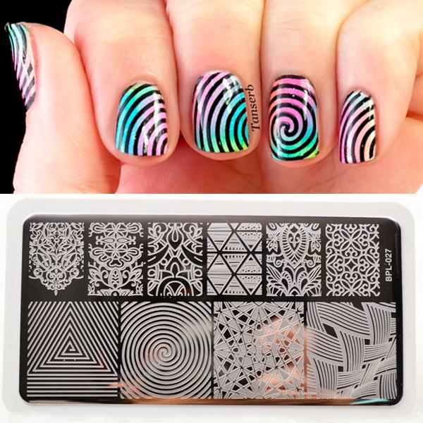 Wholesale Illusion Theme Nail Art Stamping Plates Nail Stamp ...