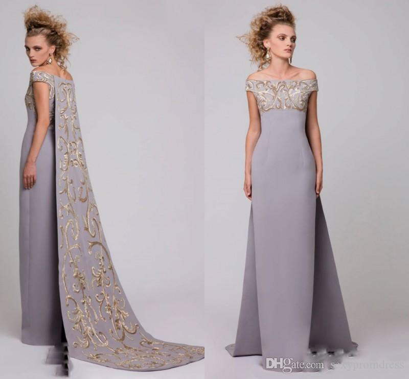 Saudi Arabic Of Shoulder Evening Dresses With Embroideried Long ...