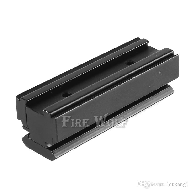 FIRE WOLF Scope Base Adapter Converter 11mm to 20mm Weaver picatinny Rail Scope Mount Rifle Hunting Caze Accessories Black