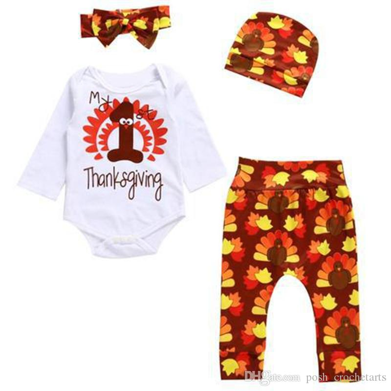 e3b10d397564 2019 Cute Baby Outfits For Boys And Girls My First Thanksgiving ...