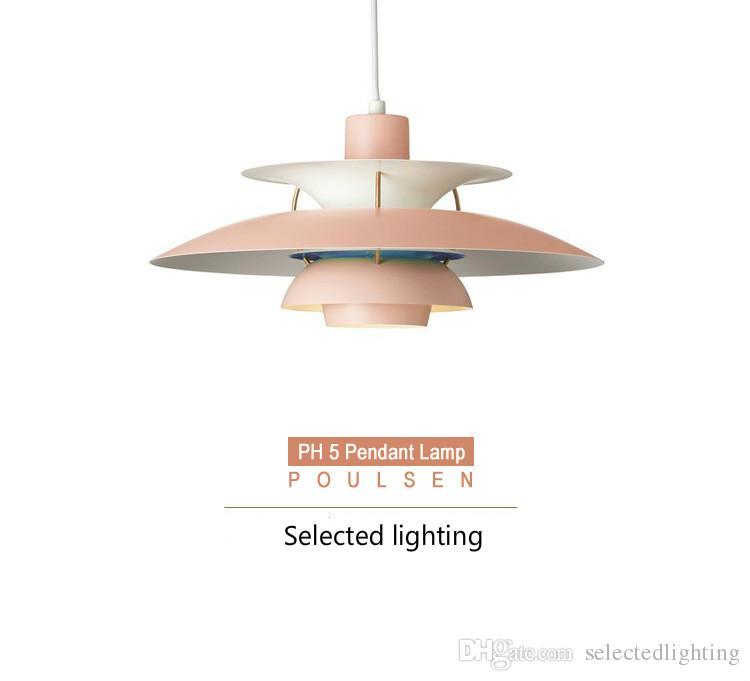 현대 램프 덴마크 루이 Poulsen PH5 펜 던 트 램프 침실 램프 사무실 거실 펜 던 트 조명 피팅
