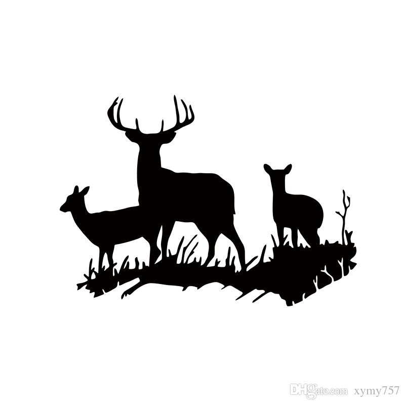 2017 Hot Sale Buck Doe Deer New Design Family Vinyl Wall Sticker Animal Home Removable Art Decal Diy