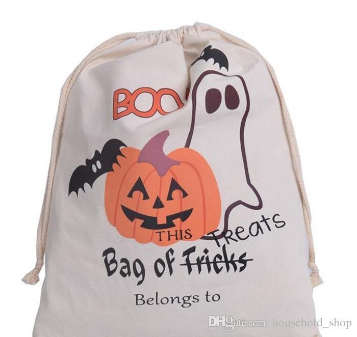 Bolsas de Halloween 2019 Bolsas de regalo de dulces Regalos de calabaza Hallowmas Bolsas de sacos 9 estilos Regalo de regalo para niños