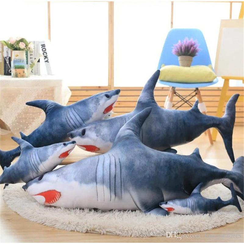 2017 Fancytrader Pop Realistic Giant Anime Shark Plush Toys 120cm 47inch  Grey Animals Sharks Pillow Decoration Gifts From Fancytraders, $58.3 |  Dhgate.Com