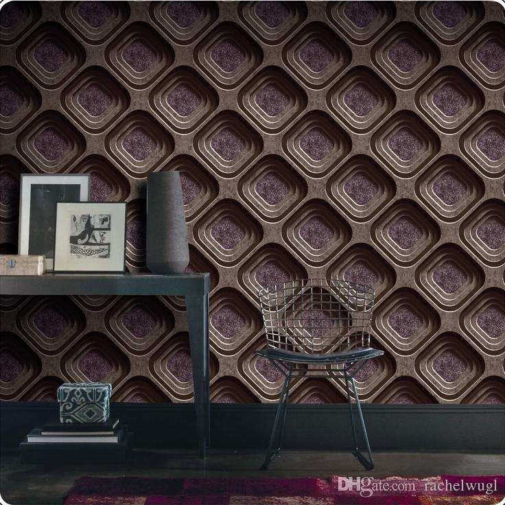 Modern design PVC wallpaper 3d vintage style wall paper roll vinyl wallcovering abstract mural wallpaper for walls with 5.3square meters