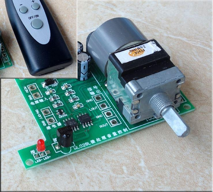 Freeshipping Assembeld HiFi Remote Volume control adjust board For Audio  amplifier preamp
