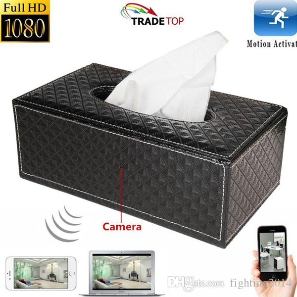 WIFI mini IP Camera Tissue Box P2P Full HD Wireless Home Office Security Recorder Room Tissue Box DVR Motion Detection video recorder