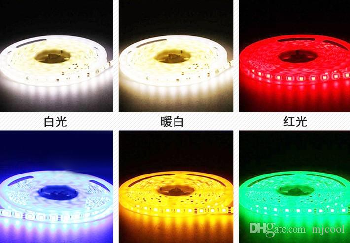 5m LED-lampor med lågt tryck 12V Ljus 5050 Tre kristall Super Bright Patch Vattentät Telefon Smycken mot glödlampa