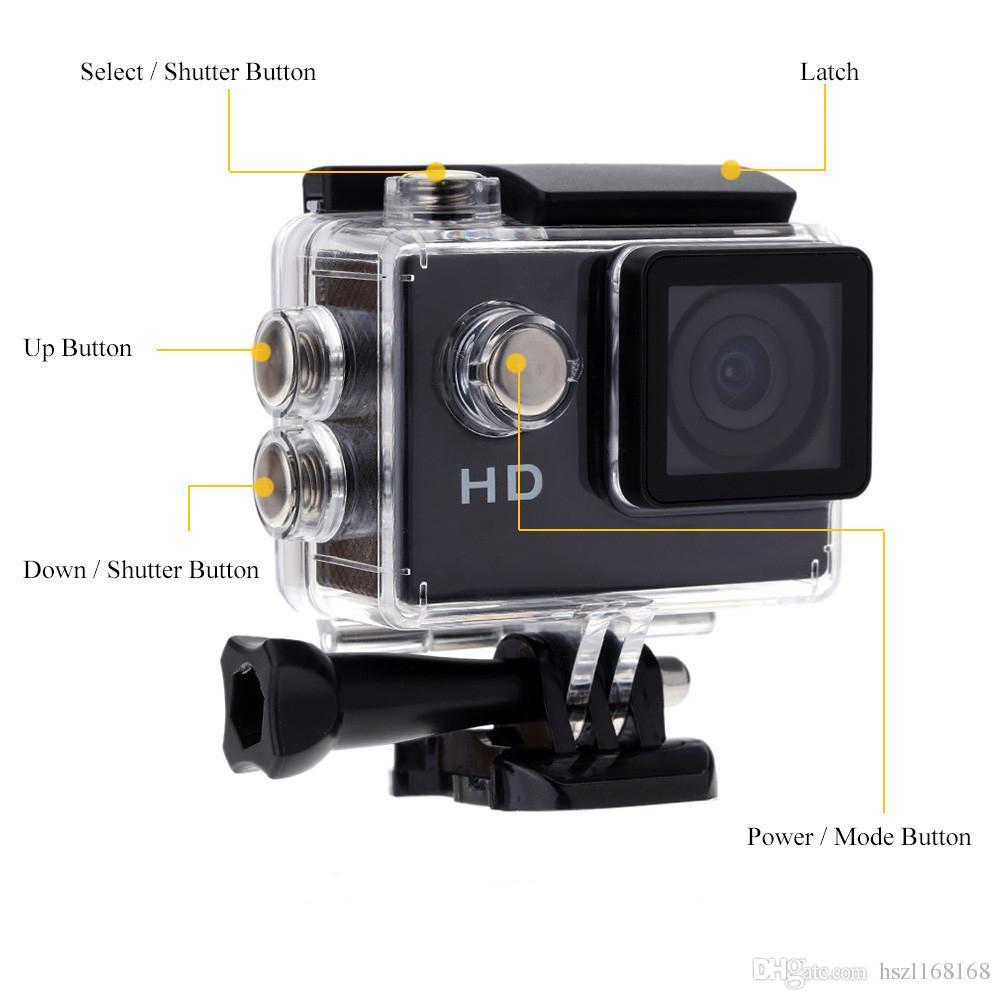 Bester Verkauf SJ4000 90-Grad-Sport-Kamera-Sport DV 2,0 Zoll LCD HD 1080P 30 m wasserdicht Outdoor-Action-Videokamera