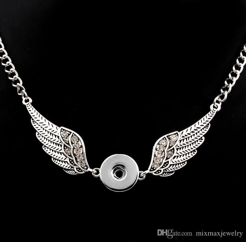 Moda donna argento intercambiabile 18mm Ginger Snap Pulsanti di fascino a scatto fai da te collane ciondolo di noosa gioielli lotti all'ingrosso