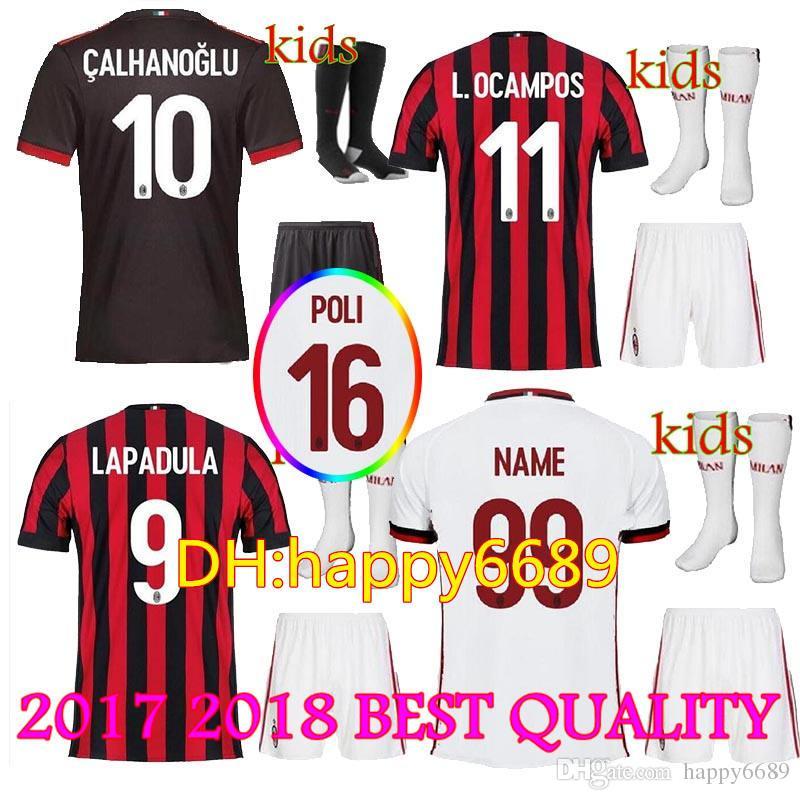 completo calcio AC Milan Bambino