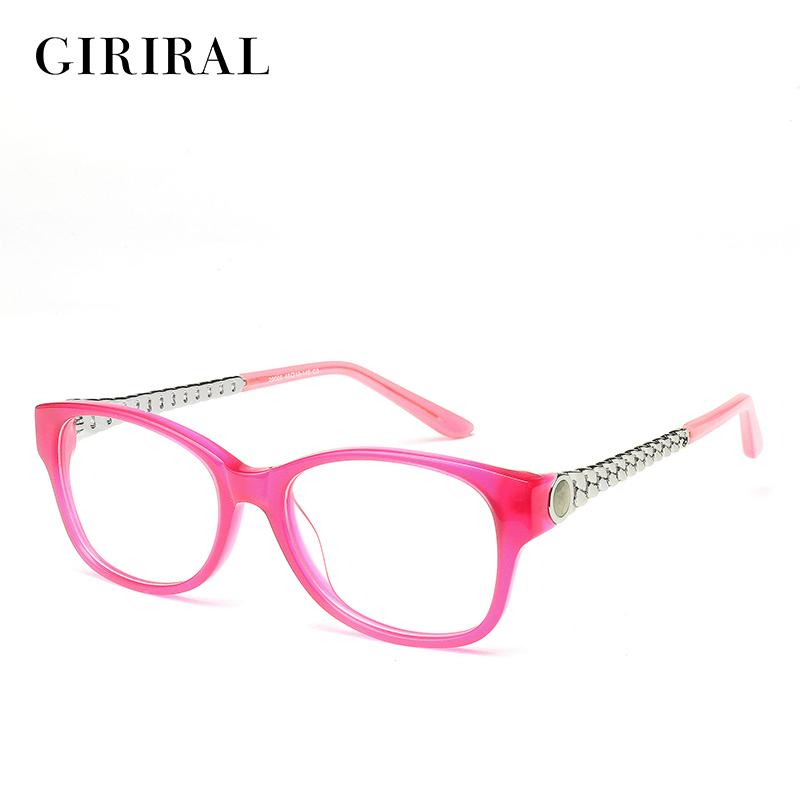 c0ce8951e5e1 2018 Wholesale Acetate Women Eyeglass Frames Round Clear Myopia Optical  Brand Designer Spectacle Frame  2 29006 From Hilaryw