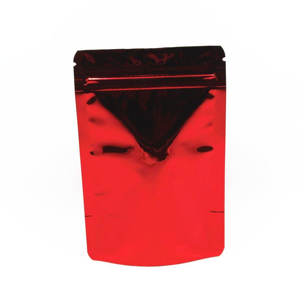 Kleinqualität 8.5 * 13cm Stand Up Aluminiumfolie Zipper Verschluss Paket-Beutel-Reißverschluss-Plastikaufbewahrungs Doypack Beutel