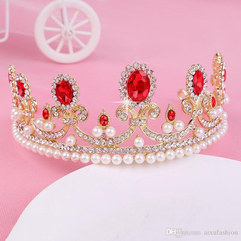 European Design Hair Jewelry Vintage Peacock Crystal Tiara Wedding Crown Accessori capelli da sposa Strass Pageant Headband Headpiece 2017